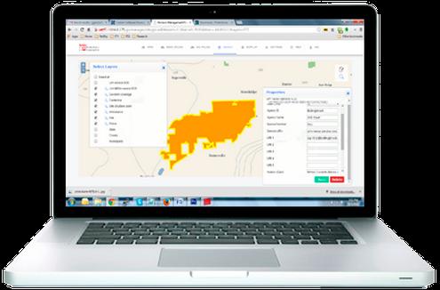 GIS Map Editing Interface